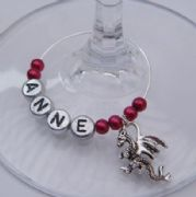 Dragon Personalised Wine Glass Charm